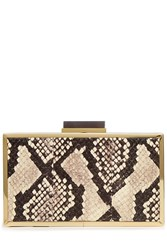 Roland Mouret Snakeskin Box Clutch Multicolor