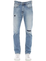 Calvin Klein Jeans 17.5Cm Distressed Cotton Denim Blue