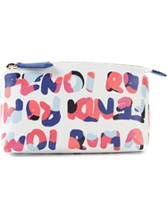 Fendi 'Fendi Roma' Print Make Up Bag White