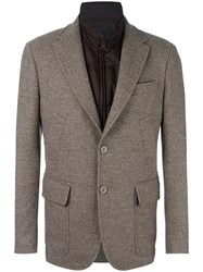 Fay Multiple Pockets Blazer Brown