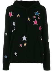 Chinti And Parker Acid Star Hoodie Cashmere Black