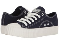 Coolway Britney Navy Canvas Women's Shoes Blue