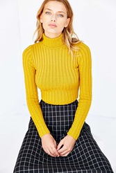 Silence And Noise Silence Noise Cassie Turtleneck Sweater Gold