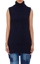 Derek Lam 10 Crosby Women's Sleeveless Turtleneck Sweater Navy