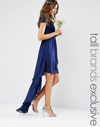 Tfnc Tall High Low Dress Navy