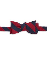 Brooks Brothers Wool And Silk Bow Tie Red