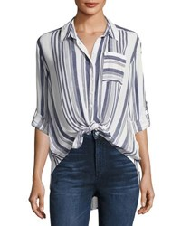 Dex Striped Button Front Shirt Multi