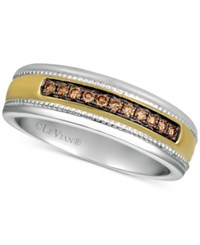 Le Vian His By Diamond Two Tone Ring 1 5 Ct. T.W. In 14K Gold And White Gold Brown