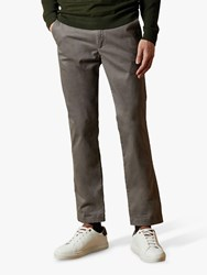 Ted Baker Clncere Classic Fit Chinos Mid Grey