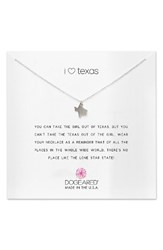Dogeared Women's I Heart Texas Pendant Necklace Silver