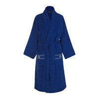 Roberto Cavalli Gold Shawl Bathrobe Blue