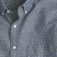 J.Crew Slim Chambray Shirt In Dot White