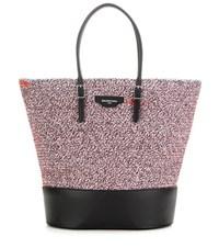 Balenciaga Fabric And Leather Shopper Multicoloured