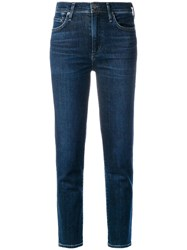 Citizens Of Humanity Mid Rise Cigarette Jeans Blue