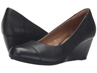 Clarks Brielle Andi Black Leather Women's Wedge Shoes