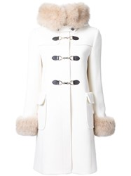 Guild Prime Trim Detail Double Breasted Coat White