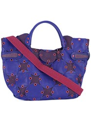 Jamin Puech Grommet Embellished Tote Women Cotton Leather Polyester One Size Blue