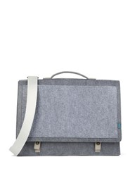 M R K T Mateo Felt And Microfiber Briefcase Elephant
