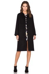 Cacharel Double Face Coat Navy