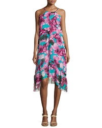 Philosophy Sleeveless Floral Print Dress Tropicana