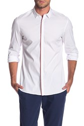 The Kooples Paper Popeline Slim Fit Shirt Whi01