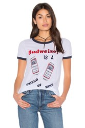 Junk Food Budweiser Tee White