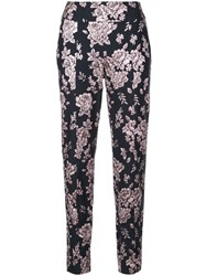 Michelle Mason Floral Embroidered Trousers Black