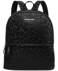 Michael Michael Kors Animal Jacquard Backpack A Macy's Exclusive Style Black Gold