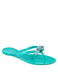 Ivanka Trump Naia Jelly Thong Sandals Teal Green