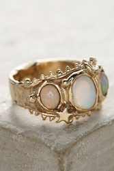 Anthropologie Opal Trio Ring Gold