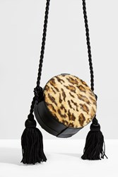 Hillier Bartley Leopard Tassel Mini Bag
