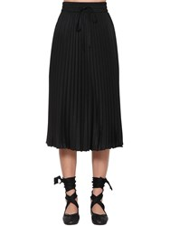 Red Valentino Crepe De Chine Midi Skirt Black