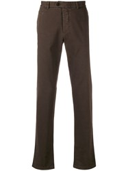Fay Slim Fit Trousers Brown