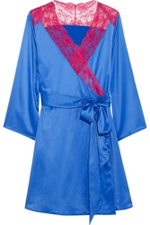 Agent Provocateur Marisela Lace Trimmed Stretch Satin Robe