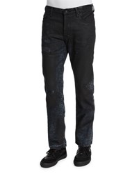 Prps Resin Coated Distressed Denim Jeans Black