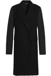 James Perse Shell Paneled Wool Blend Coat Black