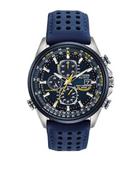 Citizen Eco Drive Stainless Steal Leather Watch Blue