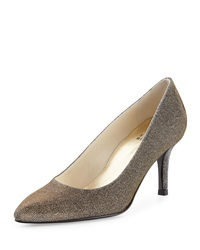 Slender Nocturn Evening Pump Pewter Stuart Weitzman