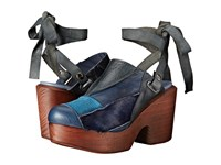 Free People Into The Patchwork Clog Navy Women's Clog Shoes