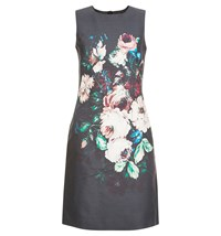 Hobbs Painted Blooms Dress Multi Coloured Multi Coloured