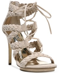 Carlos By Carlos Santana Ballari High Heel Dress Sandals Women's Shoes Sand Beige