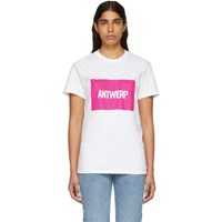 Vier Ssense Exclusive White Box Logo T Shirt