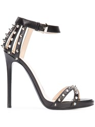 Philipp Plein Studded Sandals Women Leather 38 Black