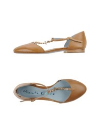 Manila Grace Ballet Flats Light Green