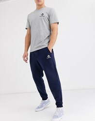Converse Small Logo Cuffed Joggers In Navy