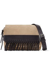 3.1 Phillip Lim Bianca Small Fringed Suede And Leather Shoulder Bag Sand