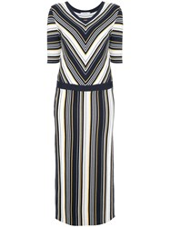 Guild Prime Striped Shift Midi Dress Multicolour