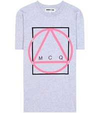 Mcq By Alexander Mcqueen Printed Cotton T Shirt Grey