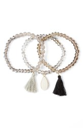 Panacea Women's Set Of 3 Stretch Bracelets