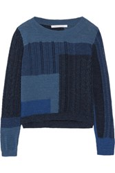 Diane Von Furstenberg Padma Intarsia Knit Cotton Sweater Multi